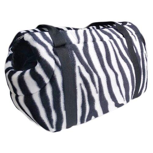 Сумка-переноска для кошек и собак Теремок ССП-3 41х21.5х25 см зебра