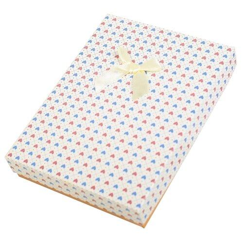 Коробка подарочная Yiwu Zhousima Crafts Сердца 16 х 3 х 12 см ванильный