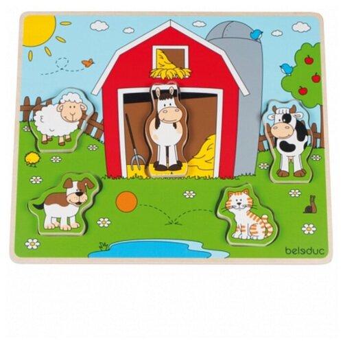 Купить Развивающий Пазл Beleduc Веселые друзья на ферме , Развивающие игрушки