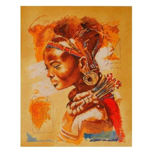 Купить Lanarte Набор для вышивания Африканская девушка 39 x 49 см (0008009-PN), Наборы для вышивания