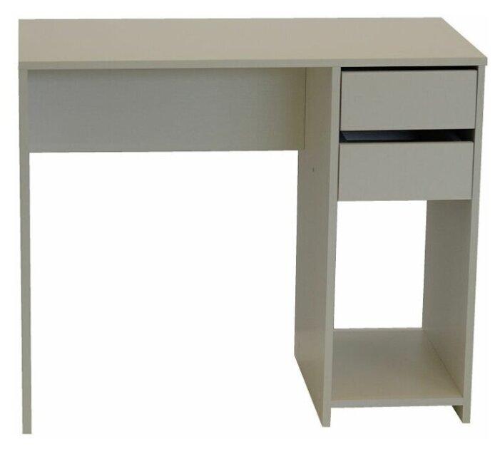 Купить Стол компьютерный с 2 ящиками Ультра Белое тиснение 900х750х450 по низкой цене с доставкой из Яндекс.Маркета