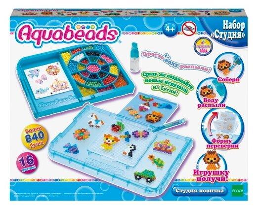 """Игровой набор Aquabeads """"Студия новичка с формой-перевертышем"""", 840 бусин (аквамозаика)"""