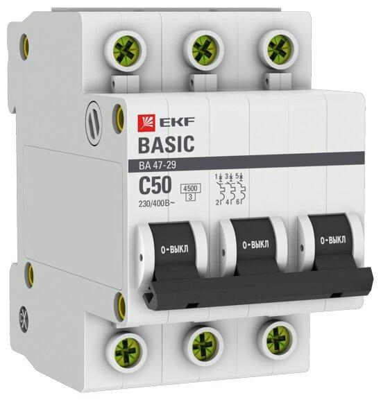 Автоматический выключатель EKF ВА 47-29 3P (C) 4,5kA