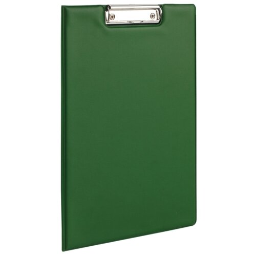 BRAUBERG Папка-планшет с верхним прижимом и крышкой, А4 зеленый папка на 2 х кольцах galaxy а4 салатовая