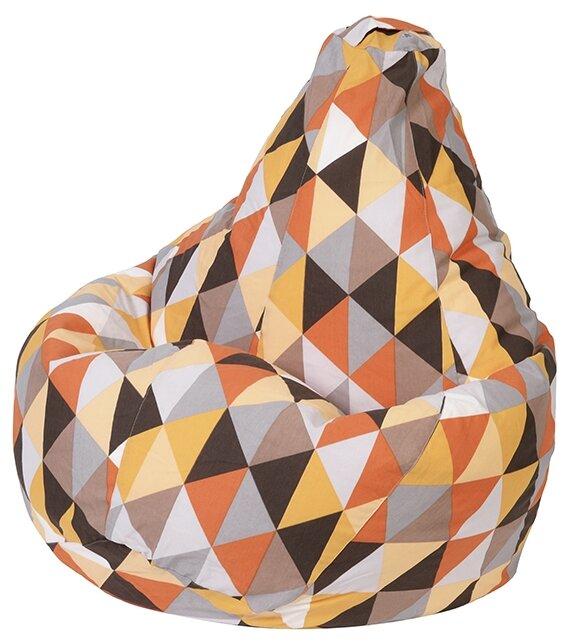 DreamBag Кресло-мешок Янтарь XL оранжевый жаккард