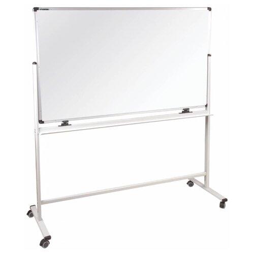 Купить Доска магнитно-маркерная BRAUBERG двухсторонняя, на колесах Premium 236927 (120х180 см) белый/серый, Доски