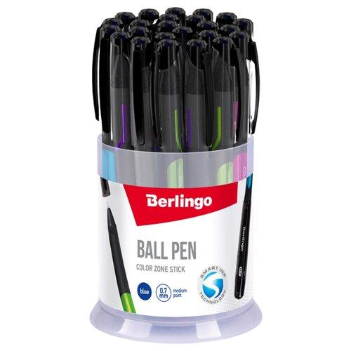 Купить Berlingo Набор шариковых ручек Color Zone Stick, 0.7 мм, 24 шт., синий цвет чернил, Ручки
