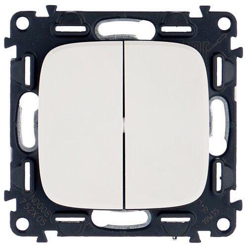 Выключатель 2х1-полюсный Legrand Valena Allure 752705,10А, белый выключатель 2х1 полюсный legrand valena allure 752905 10а алюминиевый