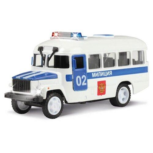Автобус ТЕХНОПАРК КАвЗ 3976 Полиция (CT10-069-3) 1:43 12 см белый технопарк автобус технопарк аэропорт 18 5 см
