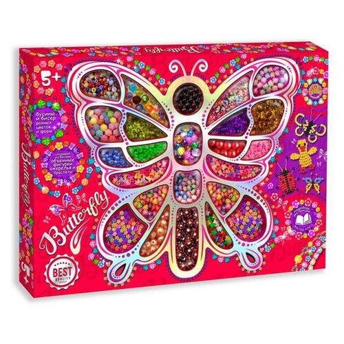 Купить Лапландия Набор для бисероплетения Butterfly разноцветный, Бисер и бисероплетение