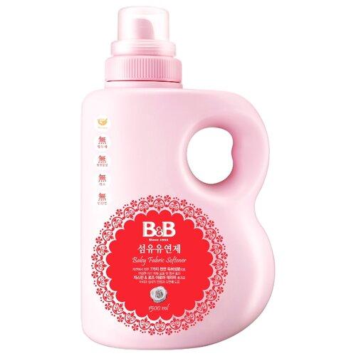 B&B Кондиционер-ополаскиватель для детского белья с первых дней жизни с ароматом жасмина и розы, 1.5 л, флакон