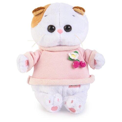 Купить Мягкая игрушка Basik&Co Кошка Ли-Ли baby в толстовке 20 см, Мягкие игрушки