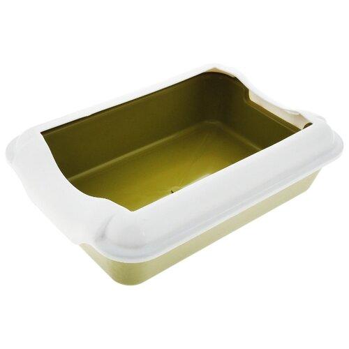 Туалет-лоток для кошек Homecat 3519745/3519721/3519684/3519769/3519707/3519721_оливковый 37х27х11.5 см оливковый 1 шт.