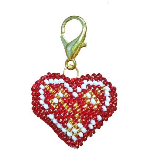 ZENGANA Набор для вышивания бисером и нитками Брелок Верность 4 х 4 см (М-103)