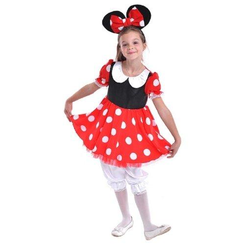 Купить Костюм ПТИЦА ФЕНИКС Минни Маус (P0158), красный, размер 122-128, Карнавальные костюмы