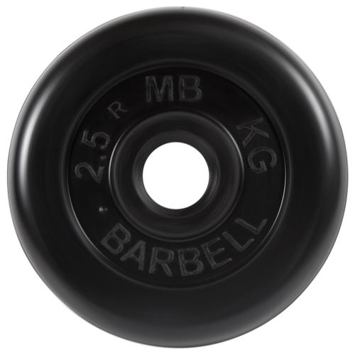 Диск MB Barbell Стандарт MB-PltB26 2.5 кг черный