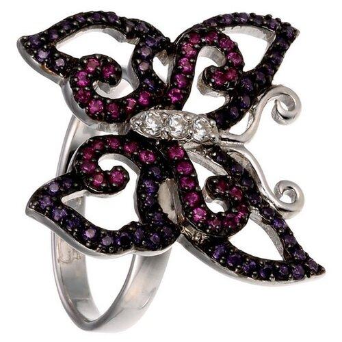 Фото - JV Серебряное кольцо с кубическим цирконием PR130015B-KO-001-WG, размер 18 jv серебряное кольцо с кубическим цирконием dm0026r ko 001 wg размер 18