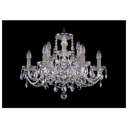 Люстра Bohemia Ivele Crystal 1402 1402/6+3/195/Pa, E14, 360 Вт люстра bohemia ivele crystal 1402 1402 3 141 pa