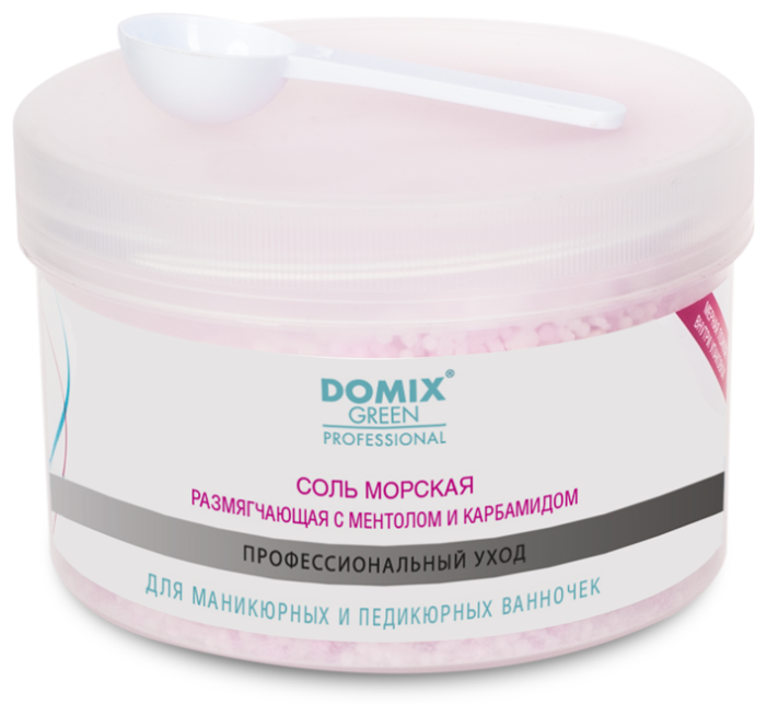 Купить Соль морская Domix Green Professional для маникюрных и педикюрных ванночек 500 г по низкой цене с доставкой из Яндекс.Маркета