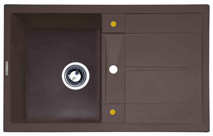 Врезная кухонная мойка Zigmund & Shtain RECHTECK 780 78х50см искусственный гранит
