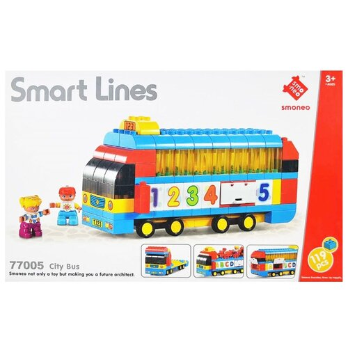 Купить Конструктор Smoneo Smart Lines 77005 Городской автобус, Конструкторы