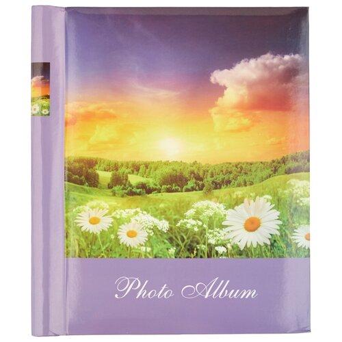 Фотоальбом BRAUBERG Рассвет (390684), 60 фото, для формата 18 х 24, фиолетовый