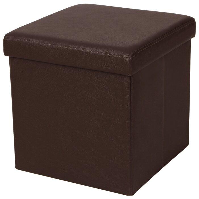 Купить Пуф Шарм-Дизайн Пикник экокожа коричневый по низкой цене с доставкой из Яндекс.Маркета