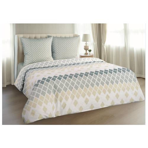 Постельное белье 2-спальное макси Guten Morgen 888 70х70 см, поплин серый/бежевый одеяло guten morgen поплин 140х205 см