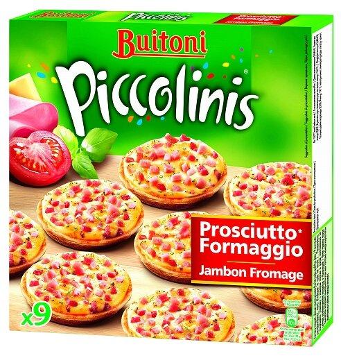 Buitoni Замороженная пицца Piccolinis с ветчиной и сыром (9 minis) 270 г
