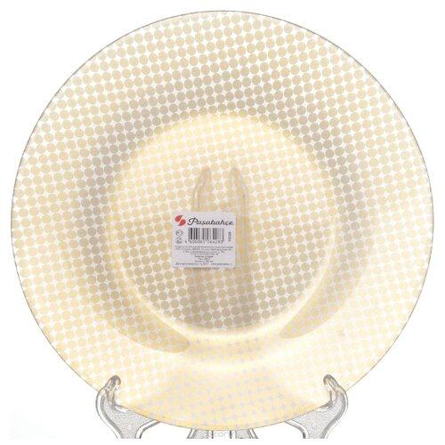 Pasabahce Тарелка обеденная Charm круг 26 см бежевый тарелка pasabahce бохо цвет зеленый диаметр 26 см