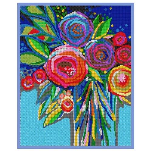 Вышивочка Набор для вышивания чешским бисером на атласе Розы любви 30 х 38 см (ВЛ-082П)Наборы для вышивания<br>