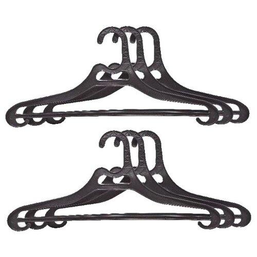 Вешалка ПОЛИМЕРБЫТ Набор для верхней одежды 48-50 черныйВешалки-плечики<br>