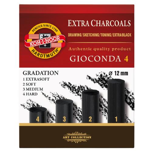 Купить KOH-I-NOOR Уголь прессованный Gioconda, 4 шт, Пастель и мелки