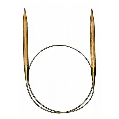 Спицы ADDI круговые из оливкового дерева 575-7, диаметр 5.5 мм, длина 100 см, дерево спицы addi круговые из оливкового дерева 575 7 диаметр 7 мм длина 100 см дерево