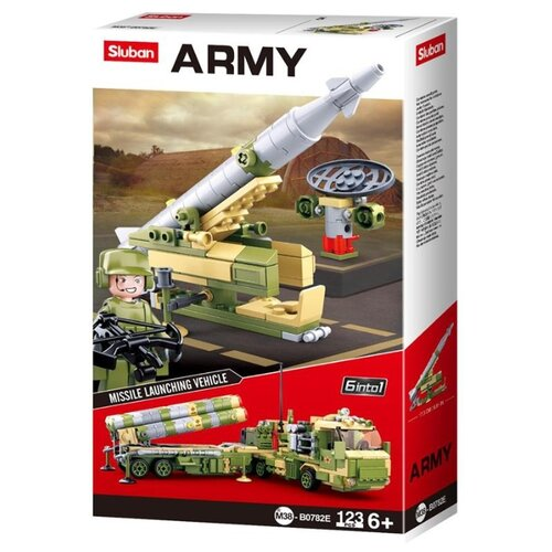 Конструктор SLUBAN Army M38-B0782E Ракетная установка