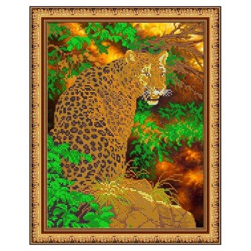 Купить Диамант Набор алмазной вышивки Леопард (ДК-426) 30х38 см, Алмазная вышивка