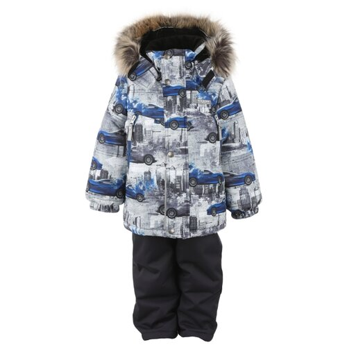 Фото - Комплект с полукомбинезоном KERRY City K20436 (04700) размер 116, серый/черный куртка kerry wolfie k19439 a размер 116 9890 серый