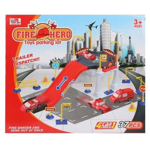 Купить Waqile Toy P668-31, красный/серый, Детские парковки и гаражи