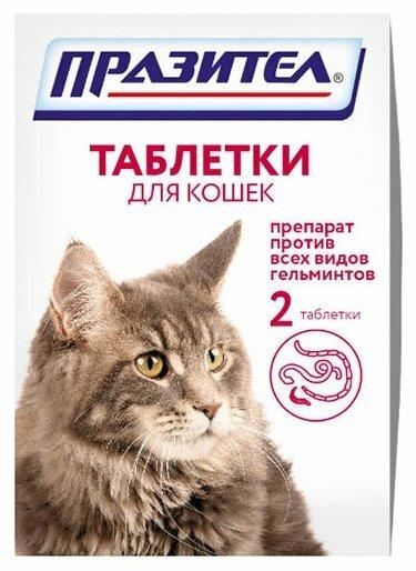 Празител в таблетках для кошек