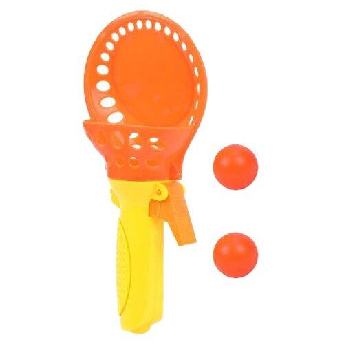 Купить Набор Наша игрушка Поймай мячик (GK718) оранжевый/желтый, Спортивные игры и игрушки