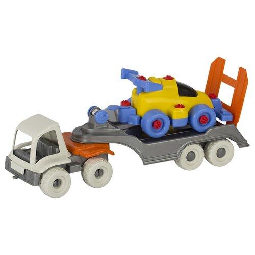 Набор машин СТРОМ Пони-эвакуатор с суперкаром (У856) стром автомобиль стром пони цистерна