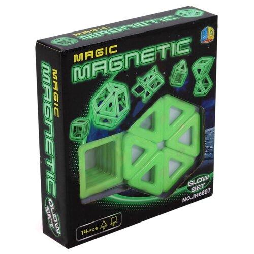 Купить Магнитный конструктор Наша игрушка Magic Magnetic JH6897 Светящийся, Конструкторы