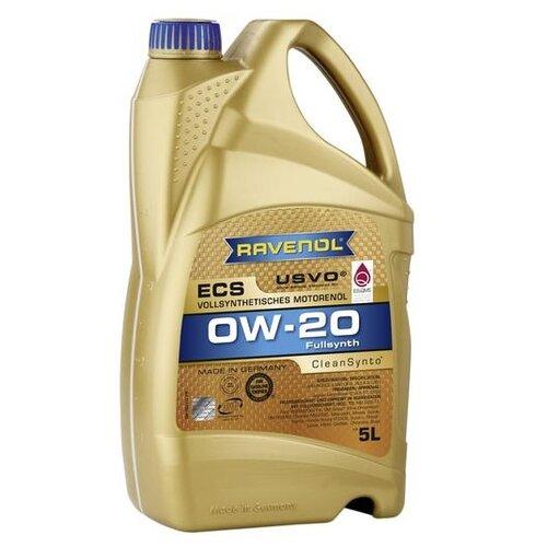 Синтетическое моторное масло Ravenol Eco Synth ECS SAE 0W-20 5 л моторное масло ravenol super synthetik öl ssl sae 0w 40 5 л