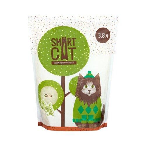 Фото - Впитывающий наполнитель Smart Cat Силикагелевый с ароматом сосны (3,8 л) 3.8 л впитывающий наполнитель for cats с ароматом зеленого чая 4 л