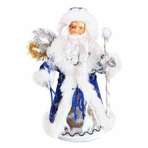 Фигурка Новогодняя Сказка Дед мороз 35 см конфетница (972374) синий фигурки magic time фигурка новогодняя дед мороз с зайчиком 75531