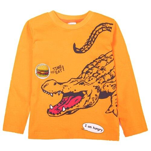 Купить Лонгслив KotMarKot размер 98, оранжевый, Футболки и майки