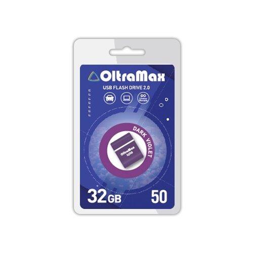 Фото - Флешка OltraMax 50 32 GB, 1 шт., dark violet флешка oltramax 50 16 gb 1 шт dark violet