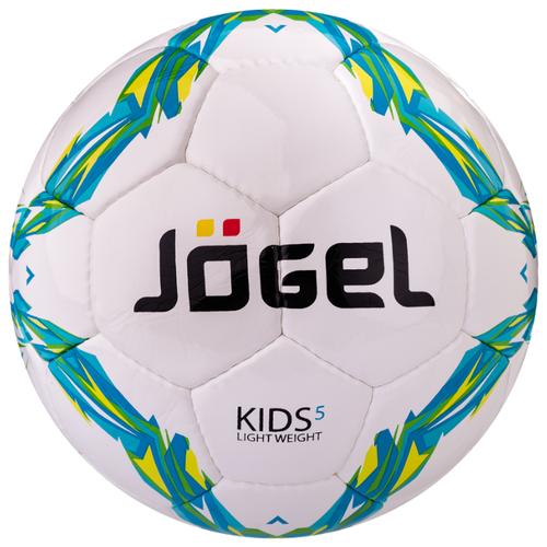 Футбольный мяч Jogel Kids белый/голубой/зеленый 5