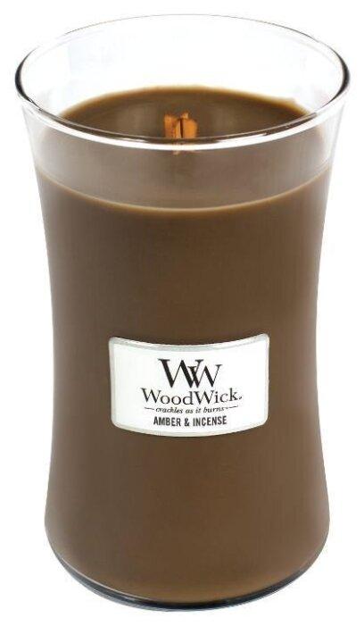 Свеча WoodWick Amber & Incense (93041), большая