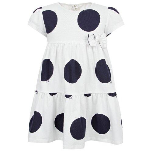Платье Il Gufo размер 74, белый/синий/горошек
